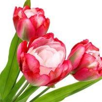 Keinotekoinen tulppaani vaaleanpunainen 60cm 3kpl