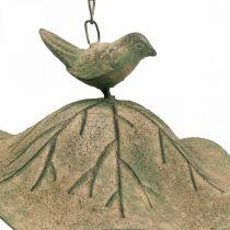 Lintukylpy roikkuu metallinen lintukylpy puutarha antiikki näyttää H28cm