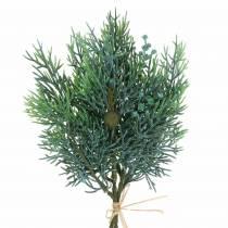 Kataja koristelu oksa kävyillä Vihreä, sininen pesty 25cm 2kpl 2kpl