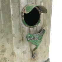 Koristeellinen lintutalo ripustaa antiikkivihreää H26cm