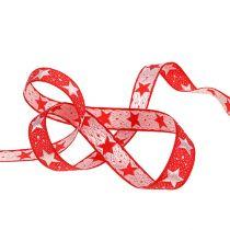 Joulunauha tähdillä punainen 15mm 20m