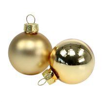 Joulupallo 4cm kultainen kiiltävä/matt 28kpl
