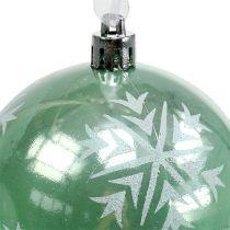 Joulupallo Ø8cm vaaleanvihreä muovi 1kpl