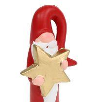Joulupukki hahmo punainen H15cm
