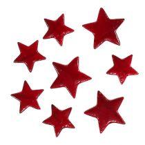 Joulutähdet sekoitus 4-5cm punainen kiiltävä 72kpl
