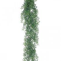 Vihreä kasvi roikkuu keinotekoinen roikkuva kasvi silmuilla vihreä, valkoinen 100cm