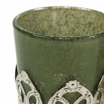 Lyhtylasi metallinen sisustus vihreä liila Ø5.5cm K5.5cm 4kpl