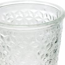 Lyhty lasi jalalla Kirkas Ø10cm H18,5cm Pöydän koristeeksi