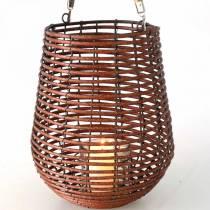 Kynttilä korissa, lyhty kahvalla, kynttiläkoriste, kori lyhty Ø24cm H34cm