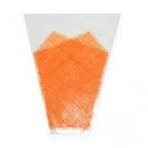 Kukkakassi juuttikuvio oranssi L40cm B12-30 50p