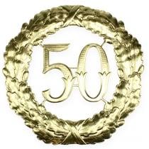 Vuosipäivä 50 kultaa Ø40cm