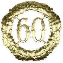 Vuosipäivä 60 kultaa Ø40cm