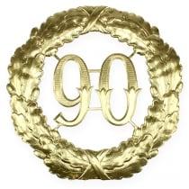 Vuosipäivä 90 kultaa Ø40cm