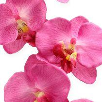 Keinotekoinen orkidea lehdillä vaaleanpunainen 68cm