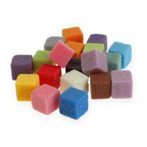 Märkä tulppaava vaahtomuovi minikuutiot tulppaava massa värillinen 300kpl