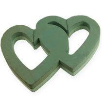 Märkä vaahtomuovinen sydän kaksinkertainen auki