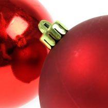 Joulukuusen pallot Muovi Punainen 8cm 6kpl