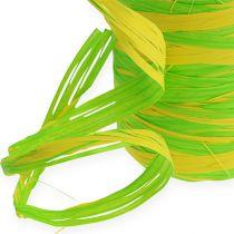 Raffia-nauha kaksivärinen vihreä-keltainen 200m