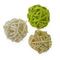 Rottinki pallo vaaleanvihreä, vaaleanvihreä, valkaistu 72kpl