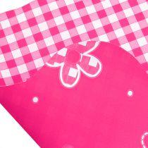 Rondella Cuff Vichy Pink Ø50cm 50kpl 50kpl