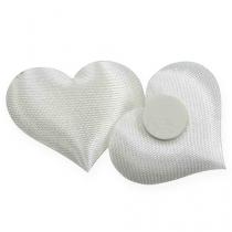 Scatter-koristekangas sydämet valkoinen 28x32mm 100p