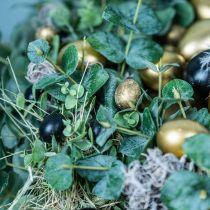 Viiriäisen muna koristelu Musta Tyhjä 3cm kevät koristelu Luonnollinen 50kpl