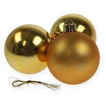 Joulupallo Muovi Kulta 6cm 12kpl