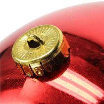 Joulupallo Medium Muovi Punainen 20cm