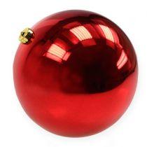 Joulupallo Muovi Suuri Punainen Ø25cm
