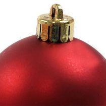 Joulupallo Muovi Punainen Ø6cm 12kpl