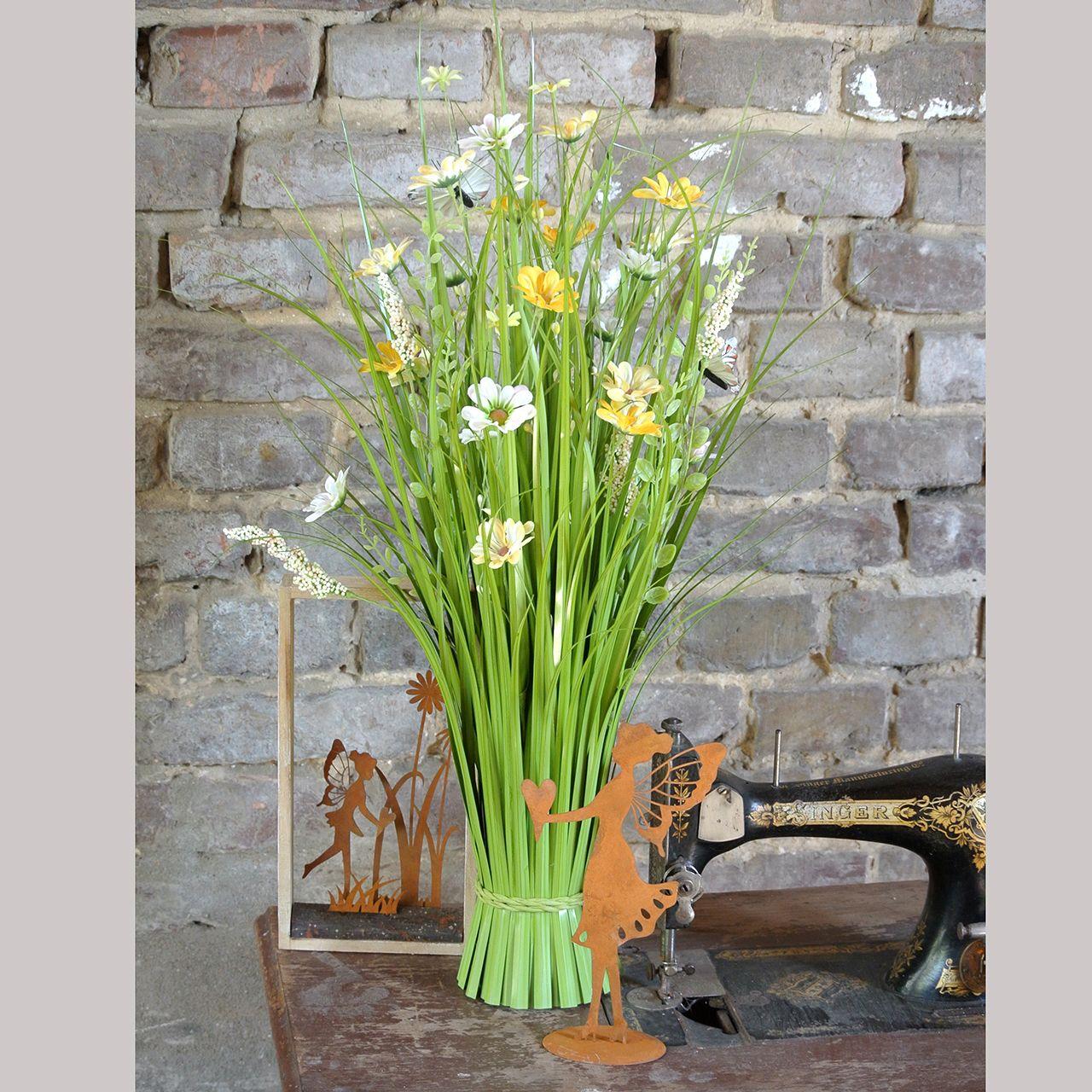 Nurmikko kukkia ja perhosia oranssi 70cm