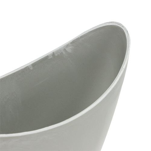 Koristeellinen kulho muovi harmaa 20cm x 9cm K11.5cm, 1kpl