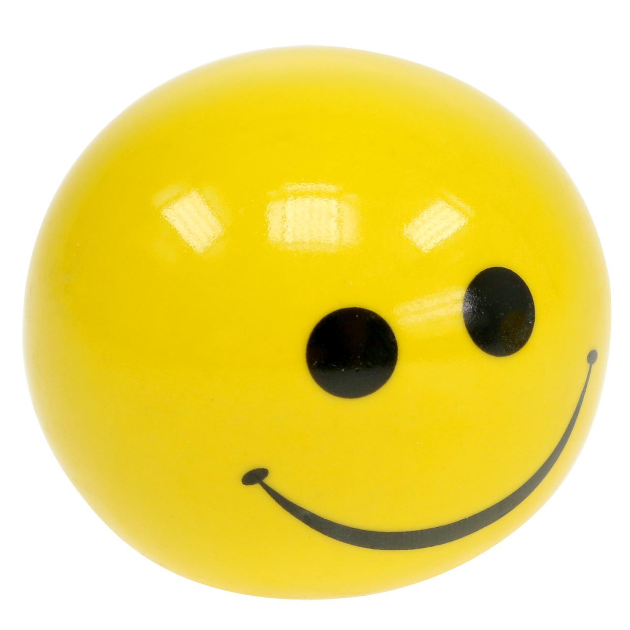 Keraaminen pallo smeili keltainen Ø5cm H4,5cm 6kpl.