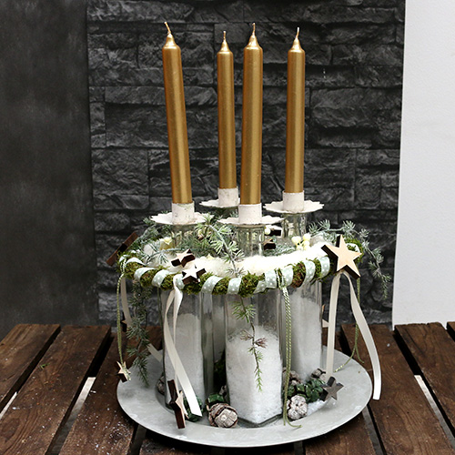 Kynttilänpidike teekynttilälle kerma Ø9cm K9cm