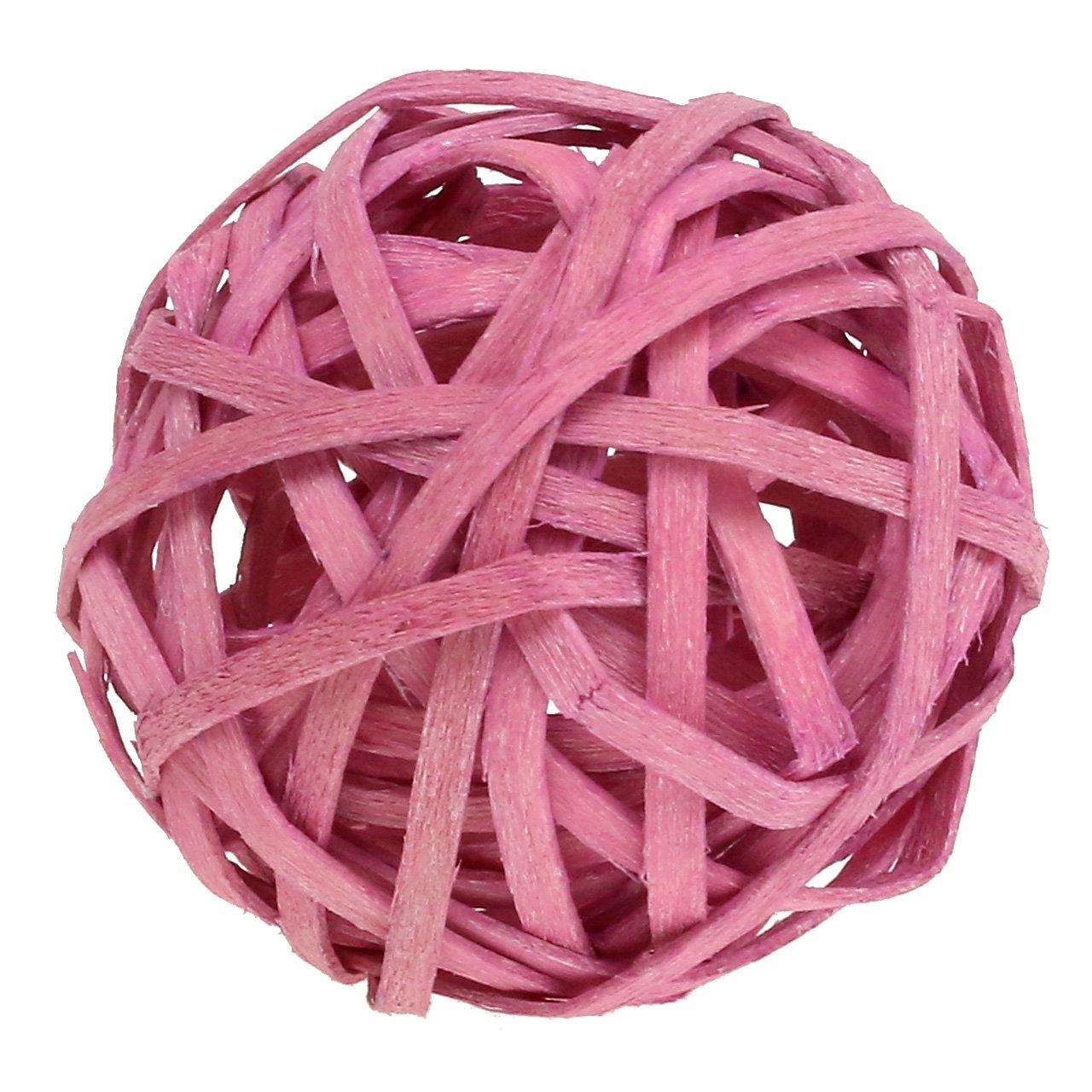 Rottinki pallo vaaleanpunainen Ø4cm 12kpl