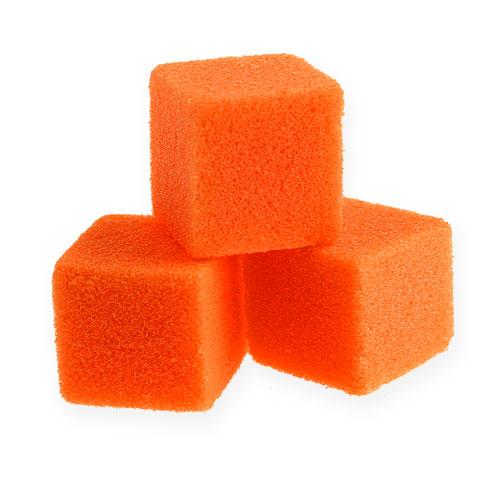 Märkä vaahto mini-kuutio oranssi 300p