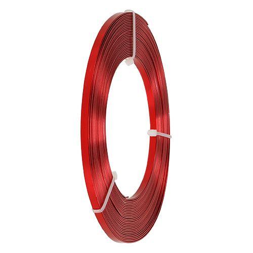 Alumiinilitteä lanka punainen 5mm 10m