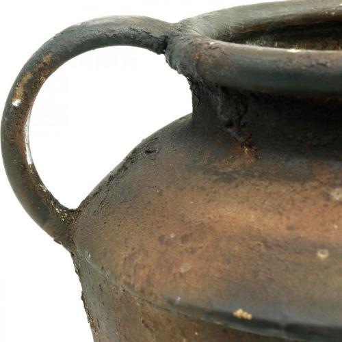 Amphora Antiikki näyttää istutus maljakko metalli puutarha koristelu H29cm