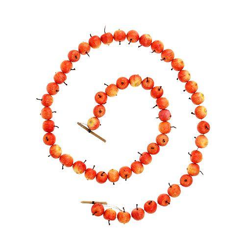 Omenakranssi 55 mini omenasta keltainen-oranssi 113cm