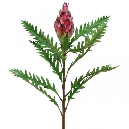 Keinotekoinen Artisokka vaaleanpunainen keinotekoisia kasveja Deco syksy H68cm