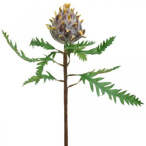 Deco Artisokka violetti keinotekoinen kasvi syksyn koristelu Ø7,5cm H42cm