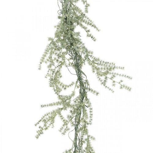Keinotekoinen parsakimppu valkoinen, harmaa Deco ripustin 170cm