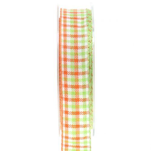 Tarkista nauha vihreä / oranssi 25mm 15m