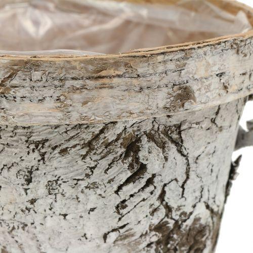 Koivupata valkoinen pesty Ø13cm K11cm