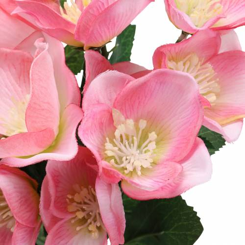 Kimppu jouluruusuja vaaleanpunainen 29cm 4kpl