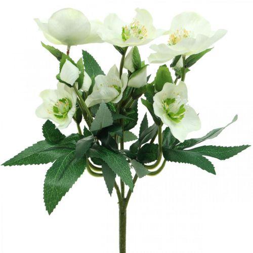 Jouluruusut valkoinen kimppu keinotekoisia kukkia joulun järjestely 27cm