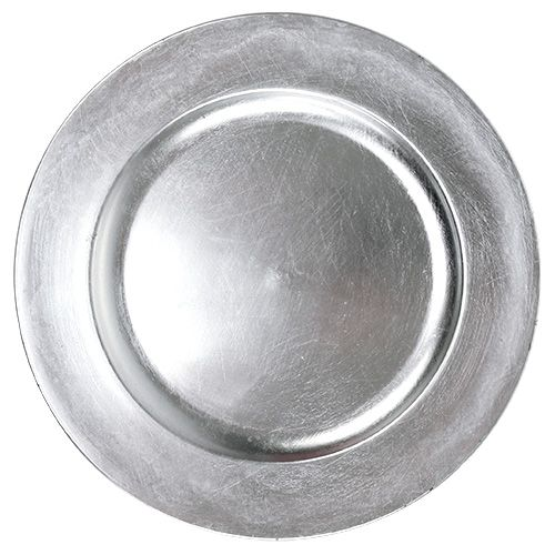 Koristelevy hopea Ø28cm