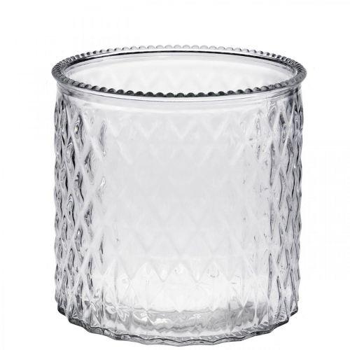 Koristeellinen lasinen lyhty Ø12cm K12.5cm