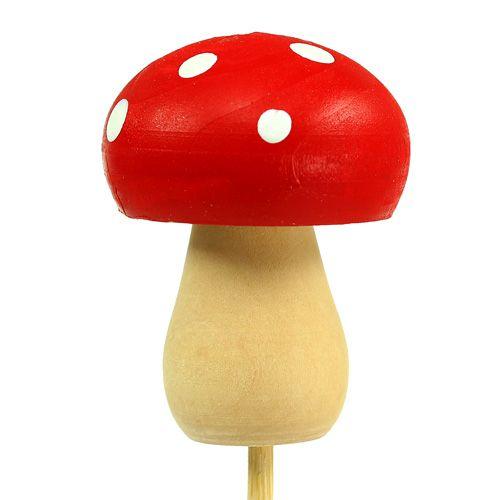 Koristeellinen sieni-myrkkytoolitulppa punainen 3,5 cm L30 cm 12 kpl