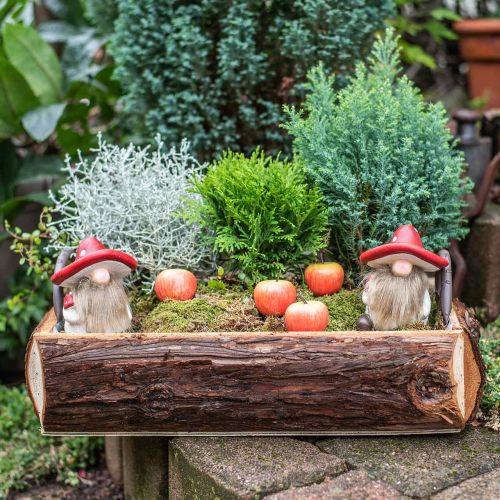 Deco Gnome Keraaminen sienihattu pöydän koriste Punainen, Valkoinen H10,5cm 3kpl 3kpl